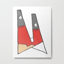 Little red man Metal Print