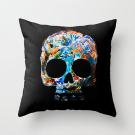 Death Flower Throw Pillow