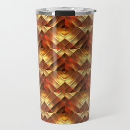 Golden Pattern Travel Mug