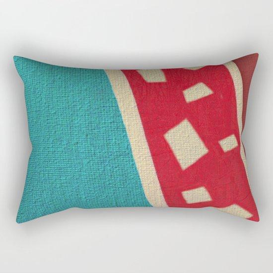 The Red Giraffe Rectangular Pillow