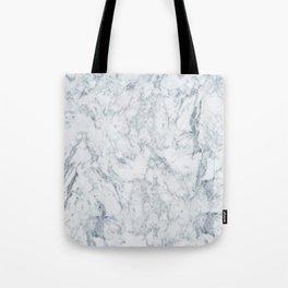 Vintage elegant navy blue white stylish marble Tote Bag