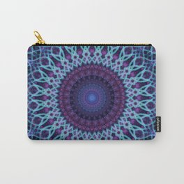 Mandala in dark and light blue tones Carry-All Pouch