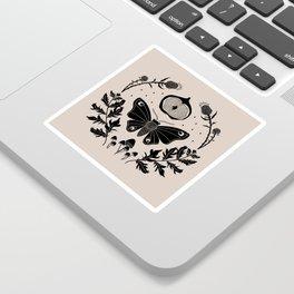 Moth, Mugwort & Mushrooms Sticker