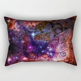 Kitty Galaxy Rectangular Pillow