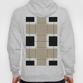 White Hairline Squares in Light Brown Hoody