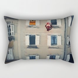 Twilight seated on the edge of the Canal Rectangular Pillow