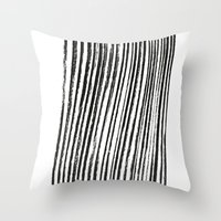 birch Throw Pillows featuring Birch by ilyya