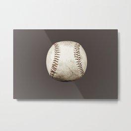 Big Baseball Illustration brown Metal Print