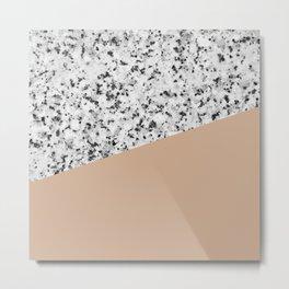 Granite and Hazelnut Color Metal Print