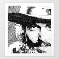 johnny depp Art Prints featuring Johnny Depp by DeMoose_Art