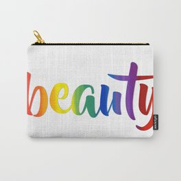 Rainbow Beauty #typography #society6 Carry-All Pouch