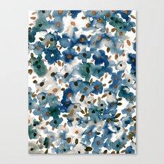 Georgia Floral Blue Canvas Print