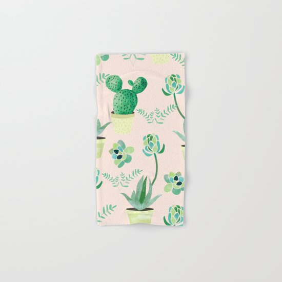Cacti Pattern #society6 #decor #buyart Hand & Bath Towel