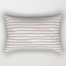 Simply Shibori Stripes Clay Pink on Lunar Gray Rectangular Pillow