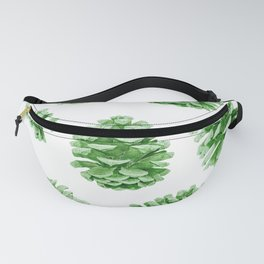 Minty Green Pine Cones Fanny Pack
