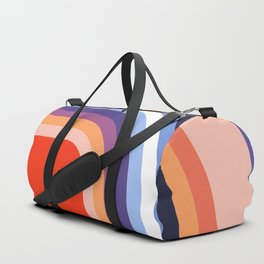 70s Stripes Rainbow 2 Duffle Bag
