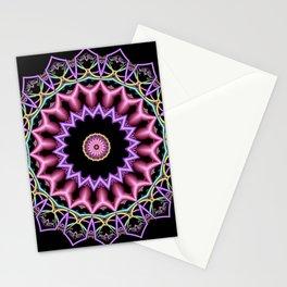 symmetry on black -02- Stationery Cards