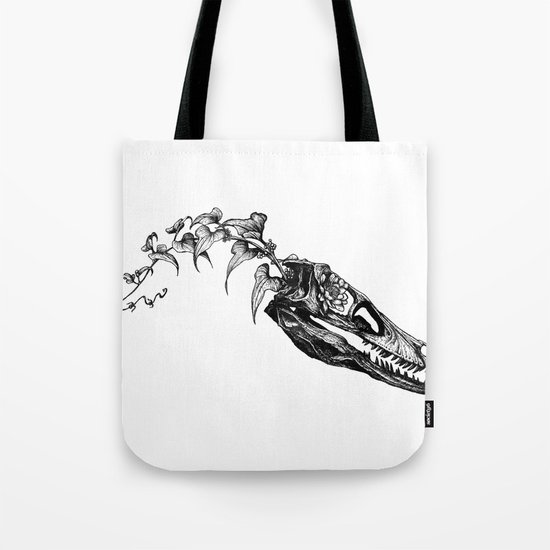 Jurassic Bloom - The Clever Girl Tote Bag