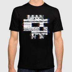 8-Bit Skull Black LARGE Mens Fitted Tee