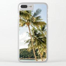 Paradise beach Clear iPhone Case