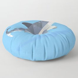 Low Poly Great White Shark Floor Pillow