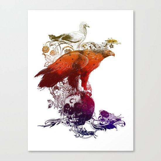 the watchers 3 color version Canvas Print