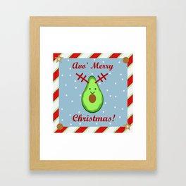Avo' Merry Christmas Framed Art Print