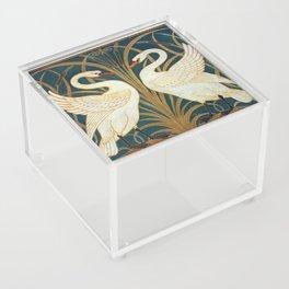 Walter Crane Swan, Rush And Iris Acrylic Box