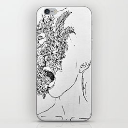 She's choking on everything she wanted to be beautiful.  iPhone Skin