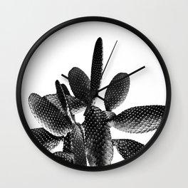 Black White Cactus #1 #plant #decor #art #society6 Wall Clock