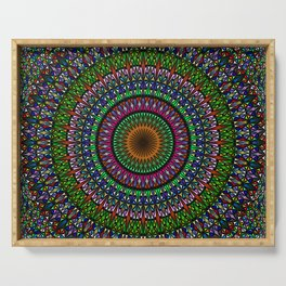Hypnotic Church Window Mandala Serving Tray
