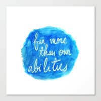 dumbledore Canvas Prints featuring Our Choices - Dumbledore quote by PieTowel