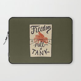 Freedom biker print Laptop Sleeve