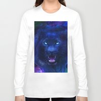 panther Long Sleeve T-shirts featuring Panther by Michael White