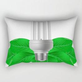Energy saving bulb and green leaves Rectangular Pillow