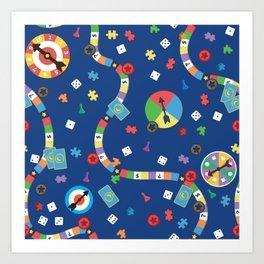 Board Game Pattern Art Print