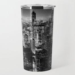 Chicago Skyline at Night Travel Mug