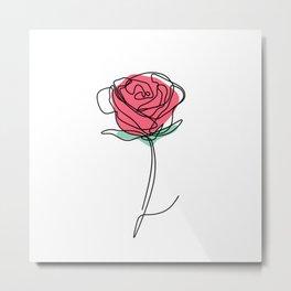 Rose line. Metal Print