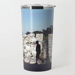 Silhouette from Near Lombard Looking Toward Coit Tower, San Francisco Travel Mug