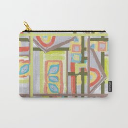 Color Blocks House Carry-All Pouch