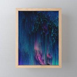 Glitchy Night - Abstract Pixel Art Framed Mini Art Print