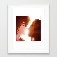 zuko Framed Art Prints featuring Zuko and Katara by Matereya