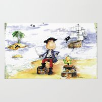pirate Area & Throw Rugs featuring Pirate by LolMalone