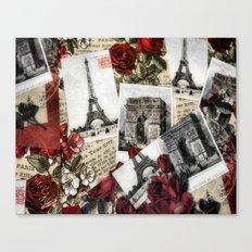 Postcards from Paris Canvas Print