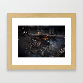 Warmth of the Flame Framed Art Print