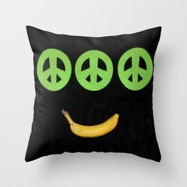 PEACE-B-SMILE-3 Throw Pillow