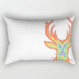 Deer Color gradient painting Rectangular Pillow