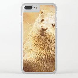 Vintage Animals - Otter Clear iPhone Case