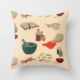 Alchemy Pattern Throw Pillow
