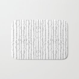 Birch trees minimal grey and white nursery home decor office minimalist forest nature Bath Mat